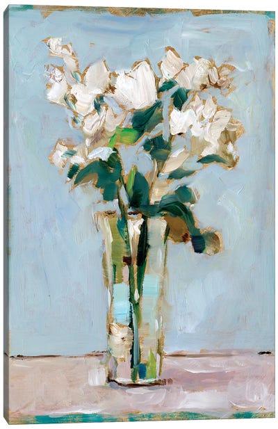 White Floral Arrangement I Canvas Art Print