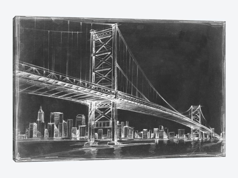 Suspension Bridge Blueprint III by Ethan Harper 1-piece Canvas Print