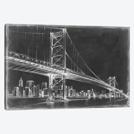 Suspension Bridge Blueprint III Canvas Print #EHA81} by Ethan Harper Canvas Print