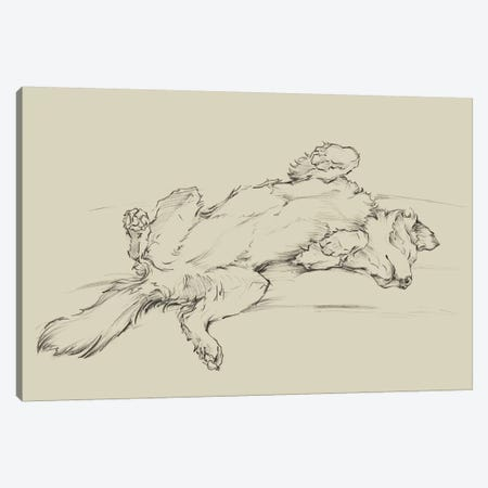 Dog Tired III Canvas Print #EHA829} by Ethan Harper Canvas Artwork