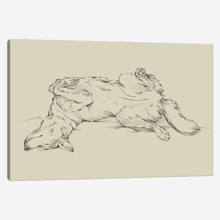 Dog Tired IV Canvas Print #EHA830} by Ethan Harper Canvas Print