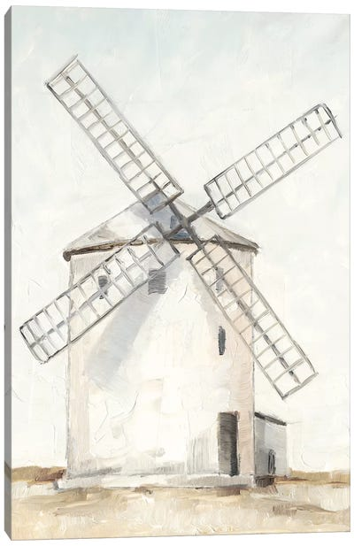 European Windmill I Canvas Art Print
