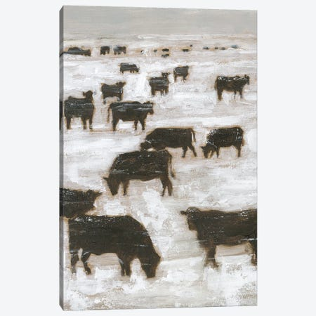 Winter Grazing I Canvas Print #EHA864} by Ethan Harper Art Print