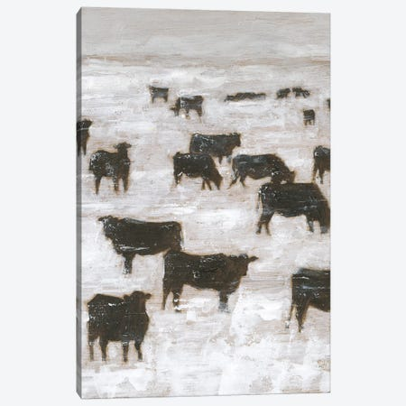 Winter Grazing II Canvas Print #EHA865} by Ethan Harper Canvas Print