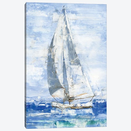 Blue Sails I Canvas Print #EHA869} by Ethan Harper Canvas Art