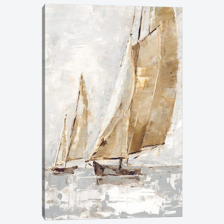Golden Sails II Canvas Print #EHA884} by Ethan Harper Canvas Art Print