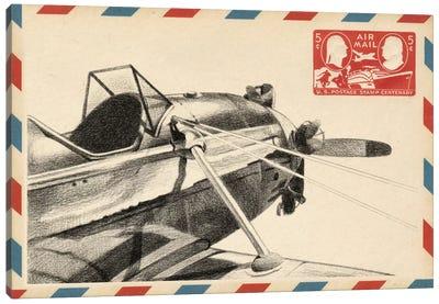 Vintage Airmail I Canvas Print #EHA88