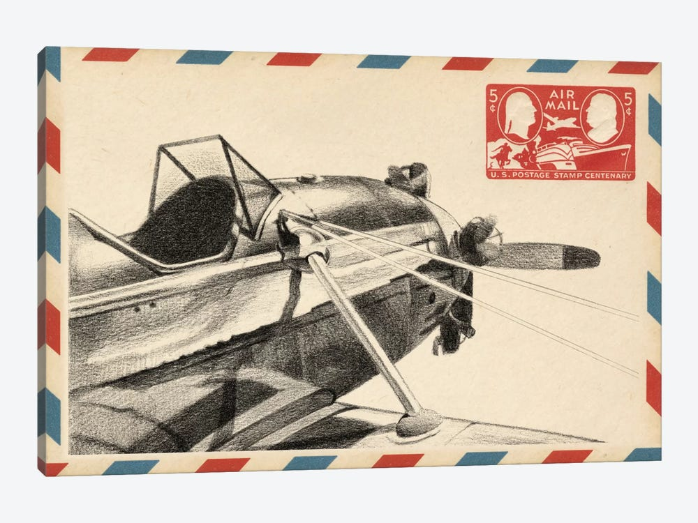 Vintage Airmail I by Ethan Harper 1-piece Canvas Wall Art