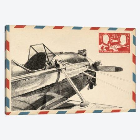Vintage Airmail I Canvas Print #EHA88} by Ethan Harper Art Print