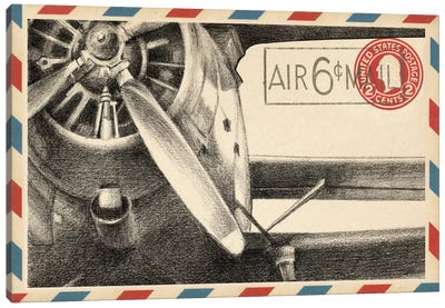 Vintage Airmail II Canvas Art Print