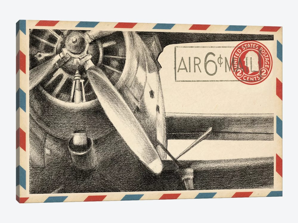 Vintage Airmail II by Ethan Harper 1-piece Canvas Art Print
