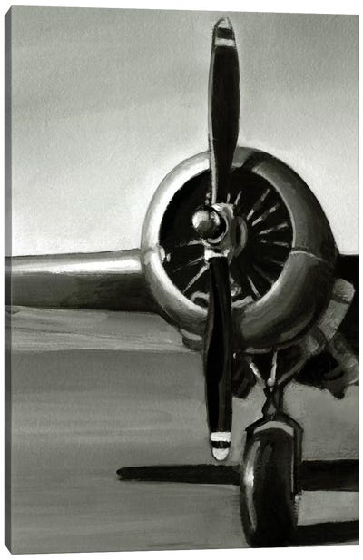 Vintage Flight Triptych Panel I Canvas Print #EHA90