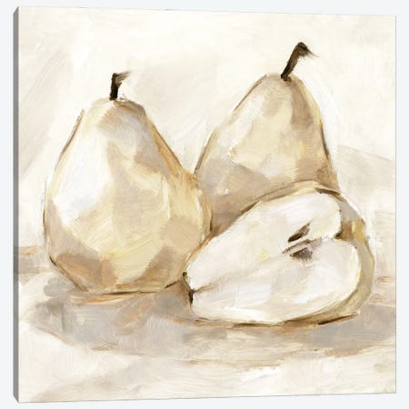 White Pear Study I Canvas Print #EHA913} by Ethan Harper Canvas Wall Art
