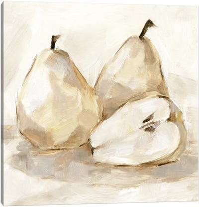 White Pear Study I Canvas Art Print