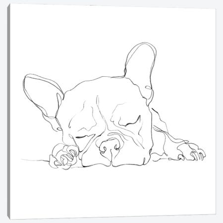 French Bulldog Contour I Canvas Print #EHA933} by Ethan Harper Canvas Wall Art