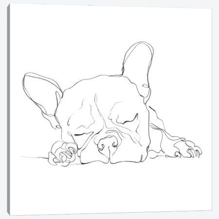 French Bulldog Contour I Canvas Print #EHA933} by Ethan Harper Canvas Wall Art