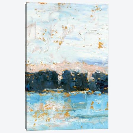 Indigo Treeline II Canvas Print #EHA940} by Ethan Harper Canvas Print