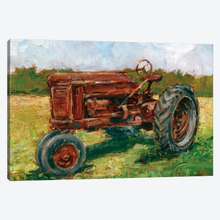 Rustic Tractors II Canvas Print #EHA948} by Ethan Harper Art Print