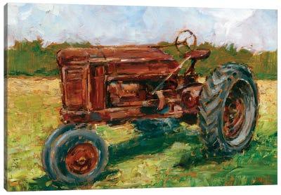 Rustic Tractors II Canvas Art Print