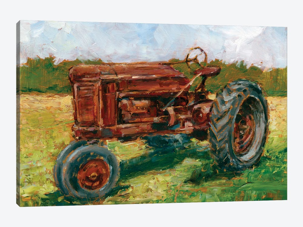 Rustic Tractors II by Ethan Harper 1-piece Canvas Art Print