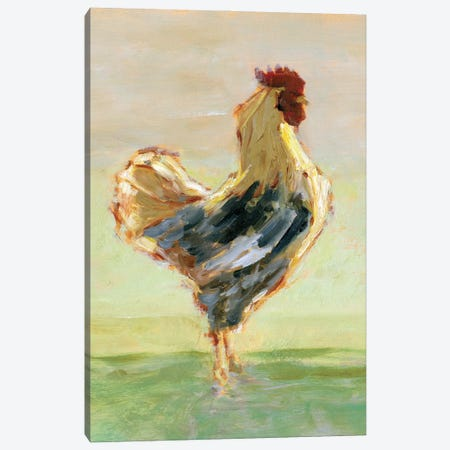 Sunlit Rooster I Canvas Print #EHA953} by Ethan Harper Canvas Wall Art