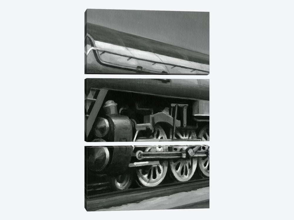 Vintage Locomotive II by Ethan Harper 3-piece Canvas Art Print