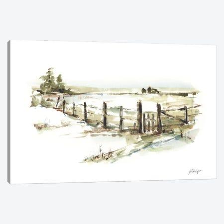 Farm Fence I Canvas Print #EHA970} by Ethan Harper Canvas Artwork