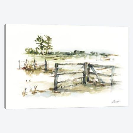 Farm Fence II Canvas Print #EHA971} by Ethan Harper Canvas Artwork