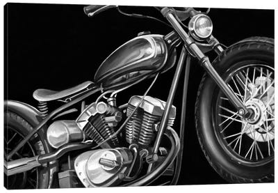Vintage Motorcycle I Canvas Print #EHA98