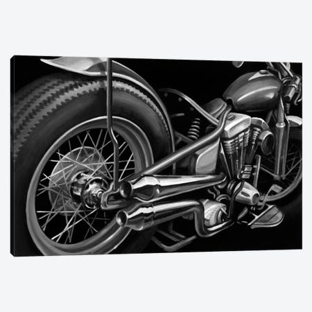 Vintage Motorcycle II Canvas Print #EHA99} by Ethan Harper Canvas Artwork