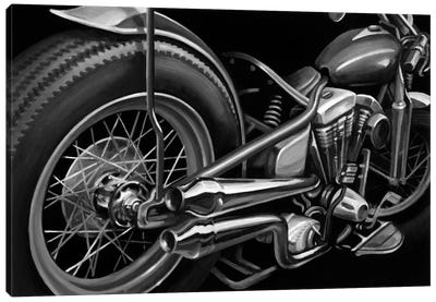 Vintage Motorcycle II Canvas Art Print