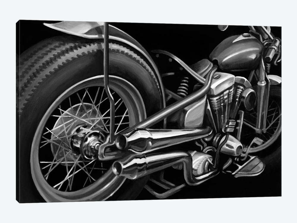 Vintage Motorcycle II by Ethan Harper 1-piece Canvas Art