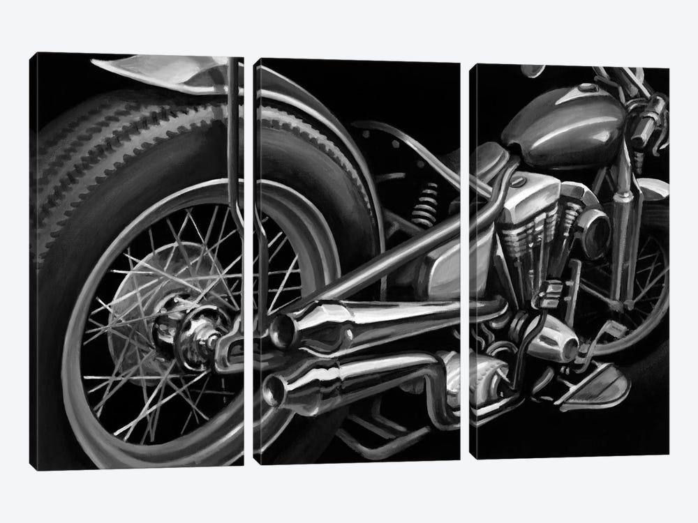 Vintage Motorcycle II by Ethan Harper 3-piece Canvas Wall Art