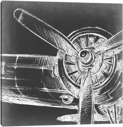 Aeronautic Collection V Canvas Art Print