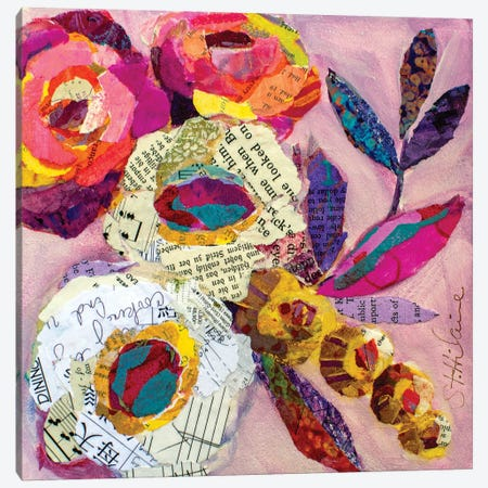 Happy Birthday Canvas Print #EHL11} by Elizabeth Hilaire Canvas Art Print