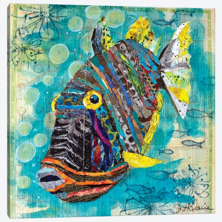 Reef Fish Canvas Print #EHL14} by Elizabeth Hilaire Canvas Art