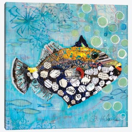 Clown Triggerfish Canvas Print #EHL15} by Elizabeth Hilaire Canvas Wall Art