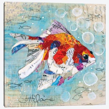 Fan Tail Goldfish Canvas Print #EHL16} by Elizabeth Hilaire Canvas Wall Art