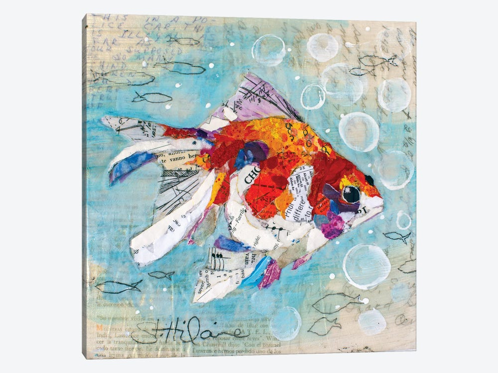Fan Tail Goldfish by Elizabeth Hilaire 1-piece Canvas Art