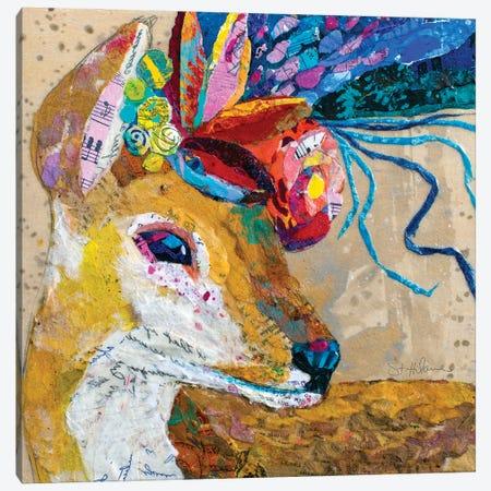 Floral Deer Canvas Print #EHL19} by Elizabeth St. Hilaire Canvas Print