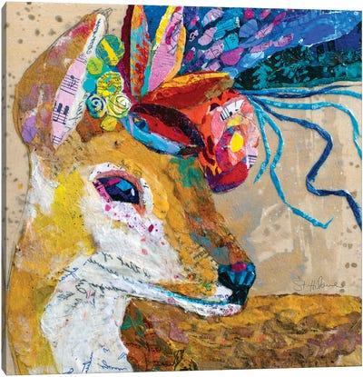 Floral Deer Canvas Art Print