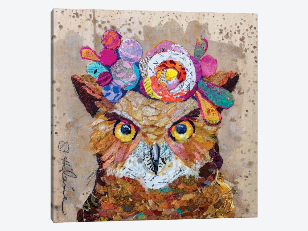 Floral Owl by Elizabeth Hilaire 1-piece Art Print