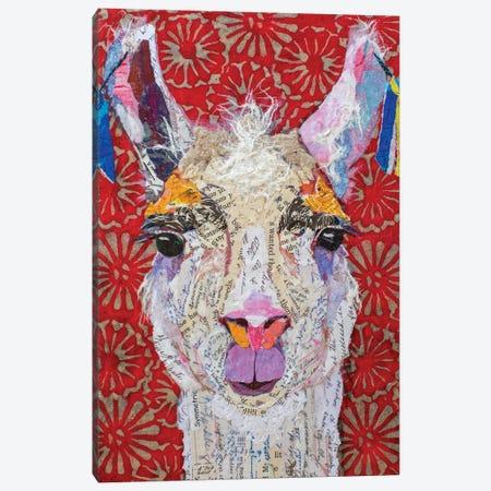 Llama Drama Canvas Print #EHL21} by Elizabeth Hilaire Canvas Art