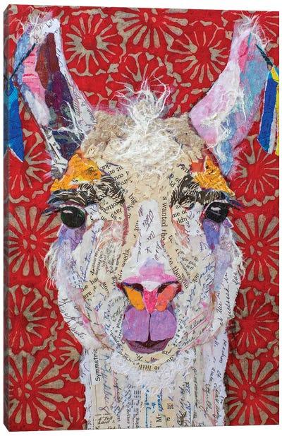 Llama Drama Canvas Art Print