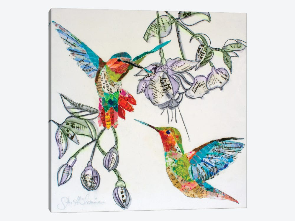 Hummers And Blooms I by Elizabeth Hilaire 1-piece Art Print