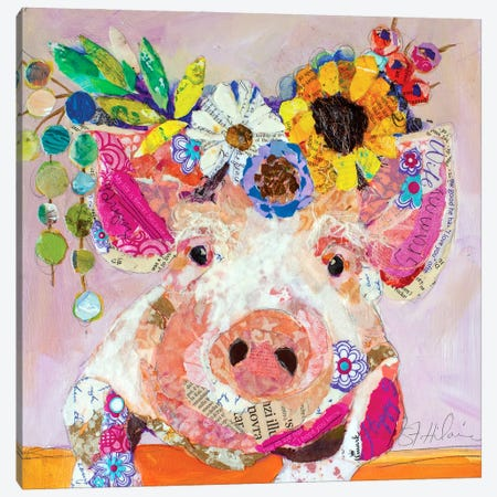 Miss Piggy Canvas Print #EHL5} by Elizabeth St. Hilaire Canvas Art