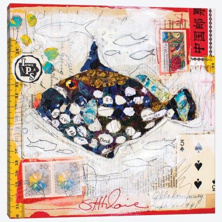 Clown Fish Canvas Print #EHL8} by Elizabeth Hilaire Art Print