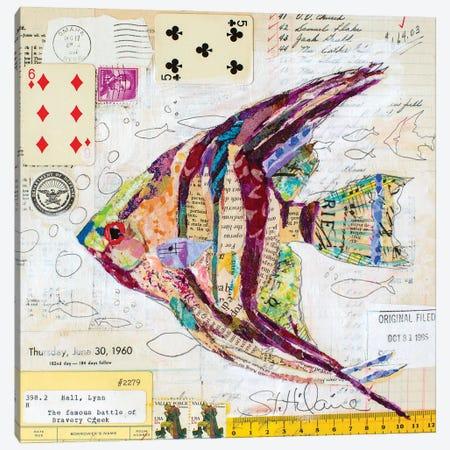 Angel Fish At Bravery Creek Canvas Print #EHL9} by Elizabeth Hilaire Canvas Art Print