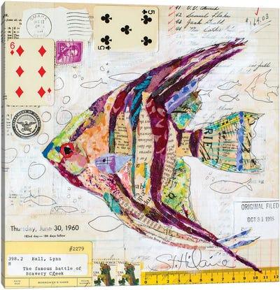 Angel Fish At Bravery Creek Canvas Art Print