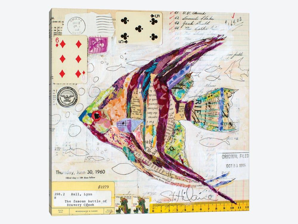 Angel Fish At Bravery Creek by Elizabeth Hilaire 1-piece Canvas Art Print